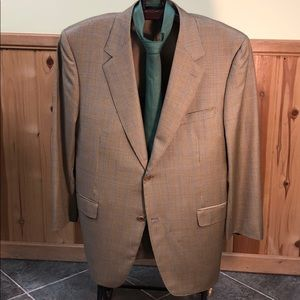 Canali windowpane wool sport coat